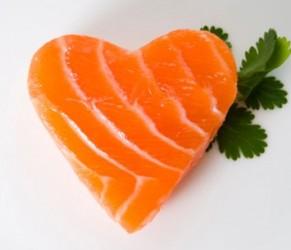 Cuore protetto con il salmone