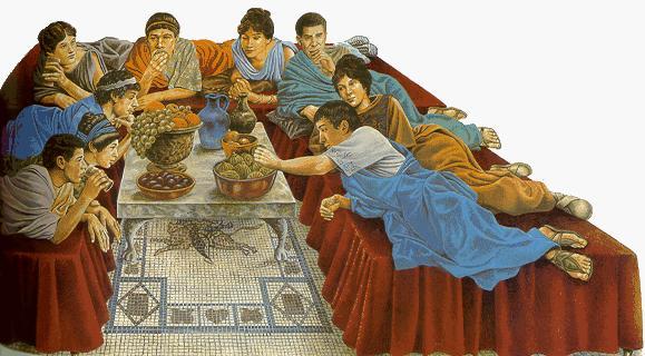 La tavola dell'Impero Romano